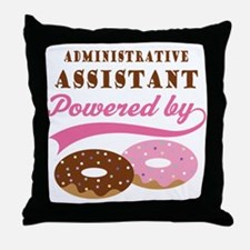 Administrative Assistant Gift Donuts Throw Pillow