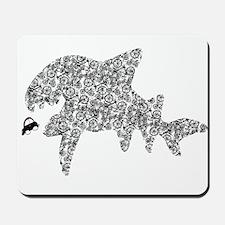 """Bike shark eating car"" Mousepad"