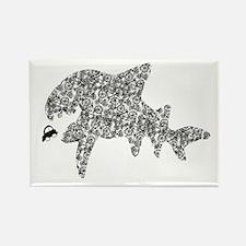 """""""Bike shark eating car"""" Rectangle Magnet"""