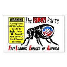 """The Flea Party"" Decal"