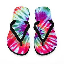 Pink Spiral Flip Flops