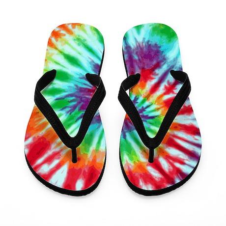 Green Spiral Flip Flops