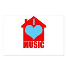 Cool I love house music Postcards (Package of 8)