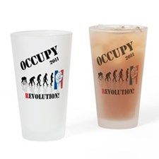 Occupy Evolution Drinking Glass