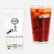 """Paranoia"" Drinking Glass"