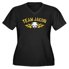 Team Jacob Design Women's Plus Size V-Neck Dark T-