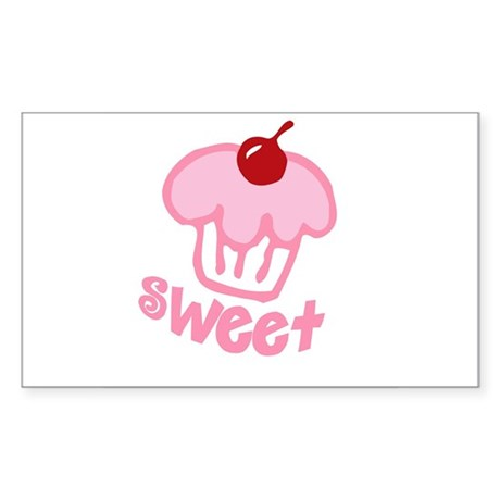 Sweet Cupcake Rectangle Sticker