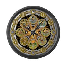 Witch's Wheel of the Year Large Wall Clock