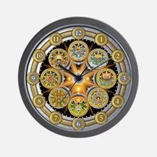 Witch's Wheel of the Year Wall Clock