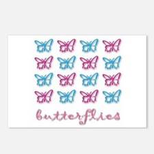 Pink Butterfly Girl Postcards (Package of 8)