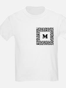 Zebra Print. Custom Letter. T-Shirt