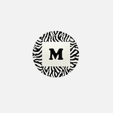 Zebra Print. Custom Letter. Mini Button (10 pack)