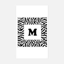 Zebra Print. Custom Letter. Decal