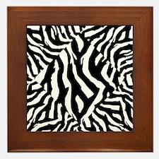 Zebra Print Pattern Framed Tile