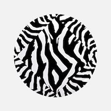 """Zebra Print Pattern 3.5"""" Button"""