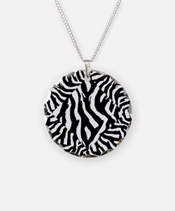 Zebra Print Pattern Necklace