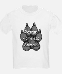 Rescue Homeless Animals Kids T-Shirt