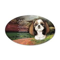 """Why God Made Dogs"" Shih Tzu 38.5 x 24.5 Oval Wall"
