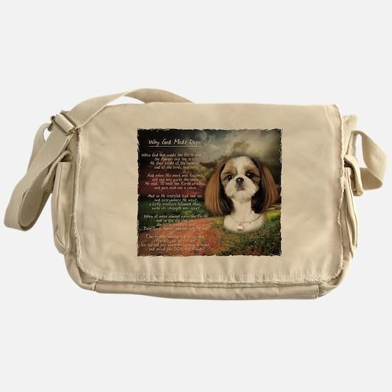 """""""Why God Made Dogs"""" Shih Tzu Messenger Bag"""