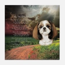 """Why God Made Dogs"" Shih Tzu Tile Coaster"