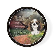 """Why God Made Dogs"" Shih Tzu Wall Clock"