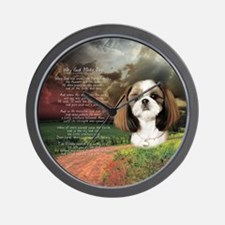 """Why God Made Dogs"" Shih Tzu Wall Clock"