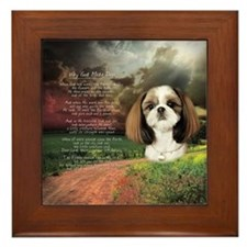 """Why God Made Dogs"" Shih Tzu Framed Tile"
