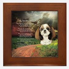"""""""Why God Made Dogs"""" Shih Tzu Framed Tile"""