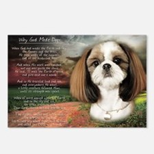 """""""Why God Made Dogs"""" Shih Tzu Postcards (Package of"""