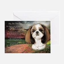 """Why God Made Dogs"" Shih Tzu Greeting Card"
