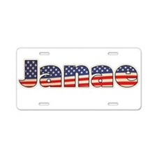 American Janae Aluminum License Plate