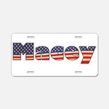 American Macey Aluminum License Plate