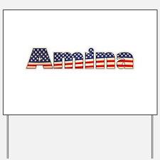 American Amina Yard Sign
