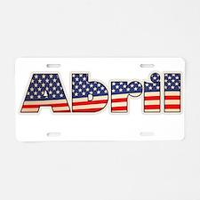 American Abril Aluminum License Plate