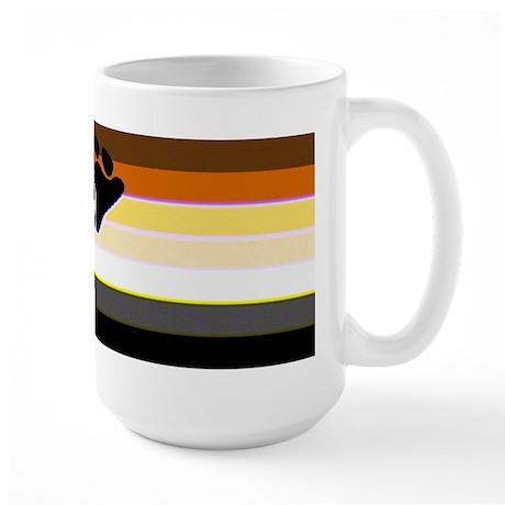BEAR PRIDE FLAG HORIZONTAL Large Mug