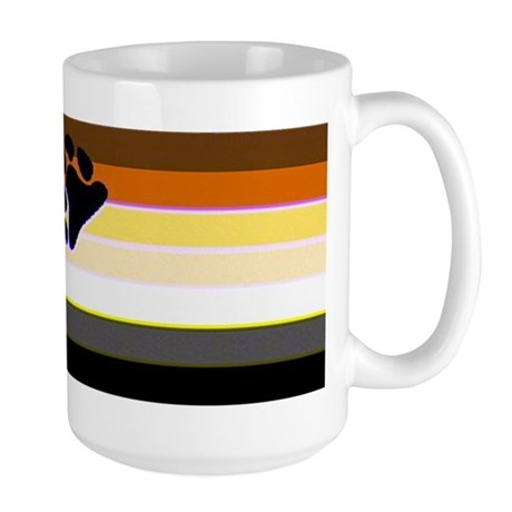 BEAR PRIDE FLAG HORIZONTAL Large Mug