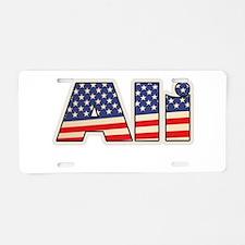 American Ali Aluminum License Plate