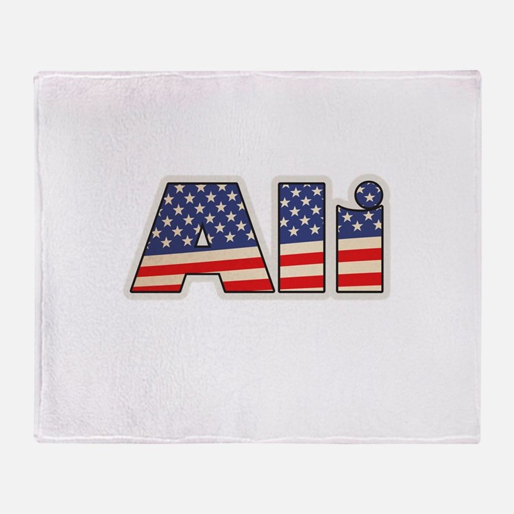 American Ali Throw Blanket