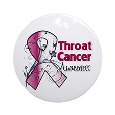 Throat Cancer Awareness Ornament (Round)