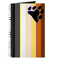 VERTICAL BEAR PRIDE FLAG COLORS Journal