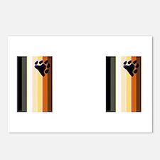 BEAR PRIDE FLAG_VERTICAL_2IMAGES Postcards (Packag