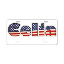 American Celia Aluminum License Plate