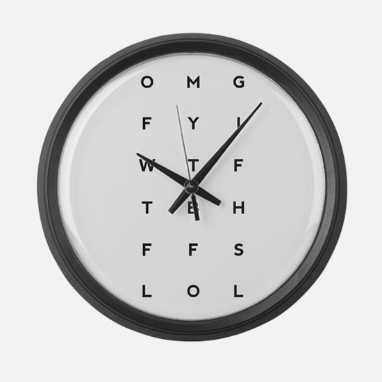 Cute Email Large Wall Clock