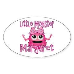 Little Monster Margaret Sticker (Oval)