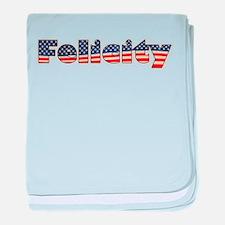 American Felicity baby blanket