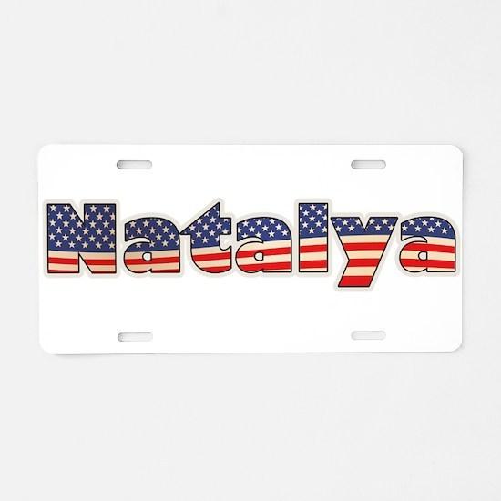 American Natalya Aluminum License Plate