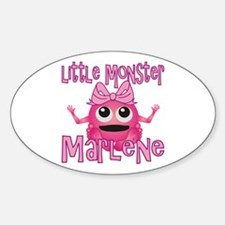 Little Monster Marlene Sticker (Oval)