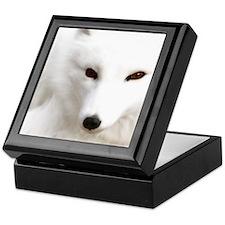 White Polar Fox Keepsake Box