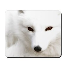 White Polar Fox Mousepad