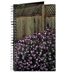 Fence with Wallflowers Journal